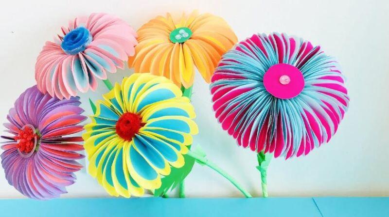 Цветы из бумаги — схемы и шаблоны для создания бумажных цветов этап 1