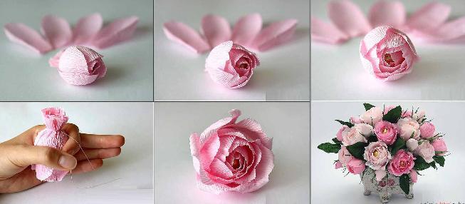 Цветы из бумаги — схемы и шаблоны для создания бумажных цветов этап 166
