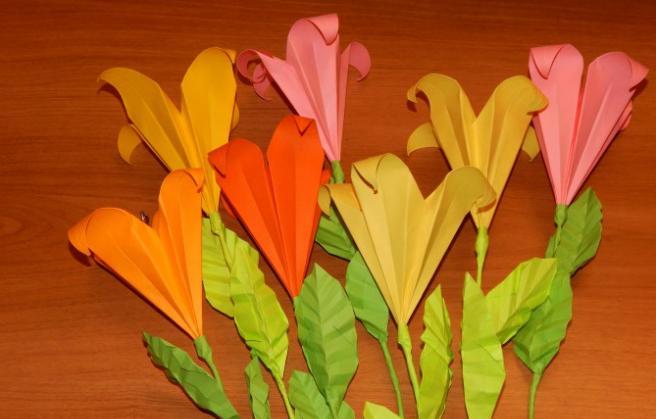 Цветы из бумаги — схемы и шаблоны для создания бумажных цветов этап 74
