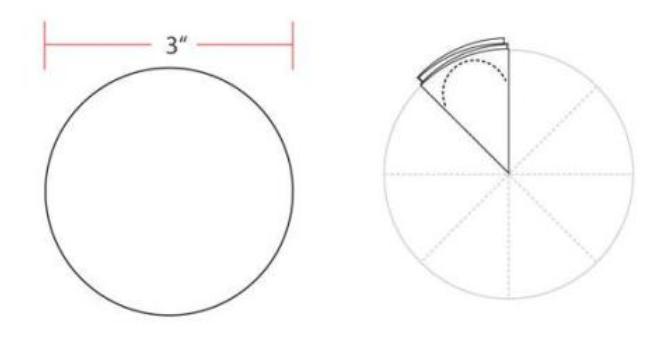 Цветы из бумаги — схемы и шаблоны для создания бумажных цветов этап 3