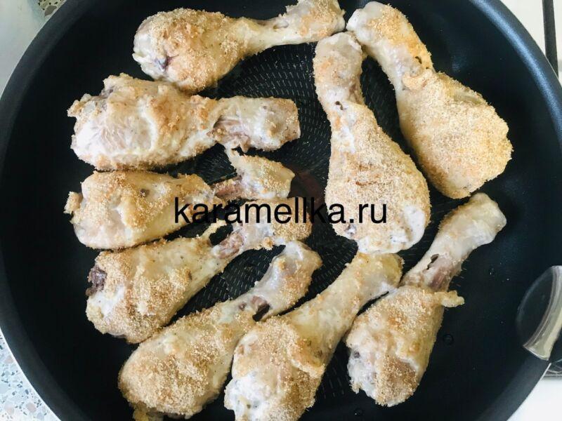 Как пожарить куриные ножки на сковороде? Рецепт куриных ножек с майонезом в хрустящей панировке этап 10