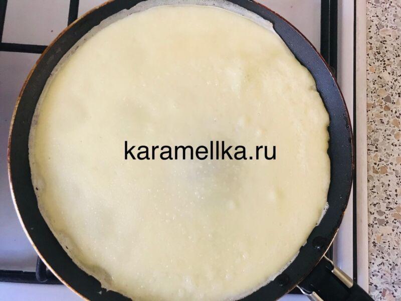 Как приготовить тонкие блины на молоке? (простой рецепт) этап 13