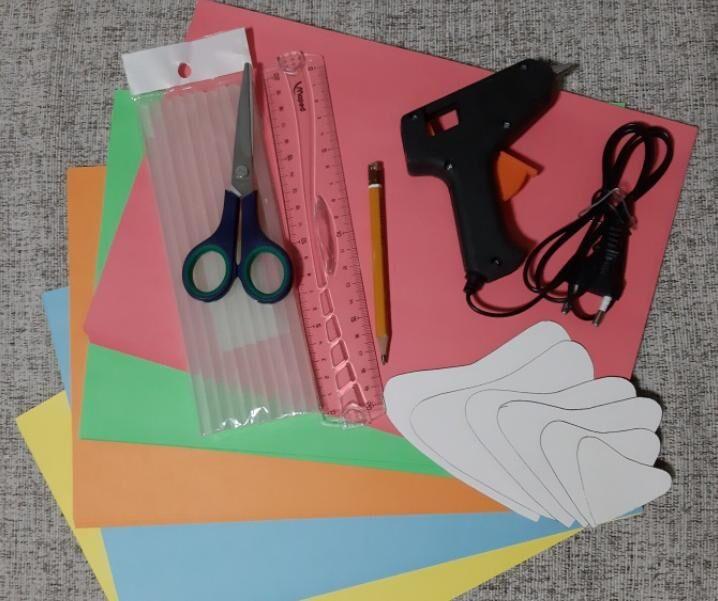 Цветы из бумаги — схемы и шаблоны для создания бумажных цветов этап 14