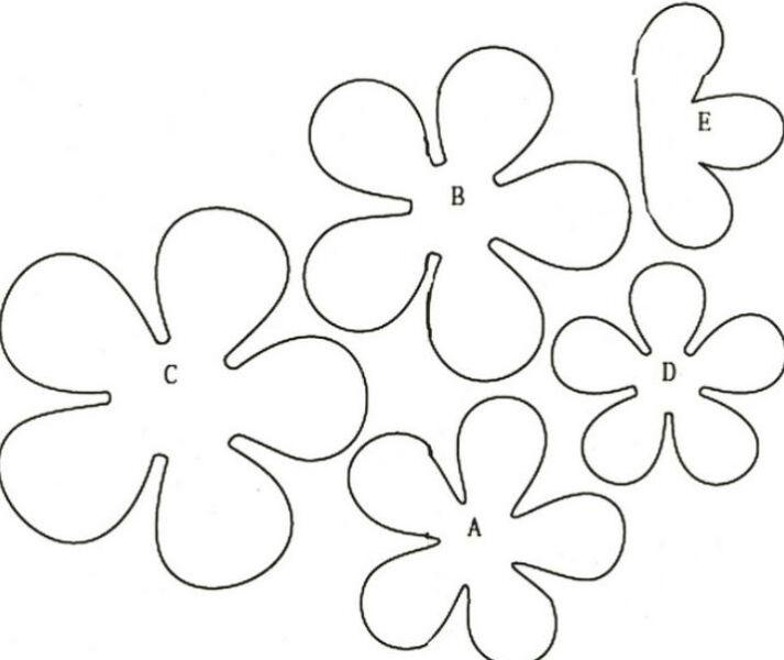 Цветы из бумаги — схемы и шаблоны для создания бумажных цветов этап 139