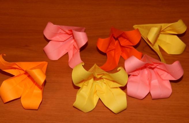 Цветы из бумаги — схемы и шаблоны для создания бумажных цветов этап 113