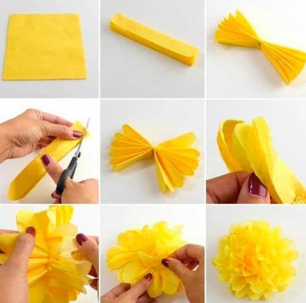 Цветы из бумаги — схемы и шаблоны для создания бумажных цветов этап 12