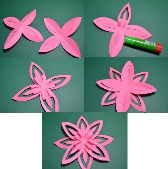 Цветы из бумаги — схемы и шаблоны для создания бумажных цветов этап 13