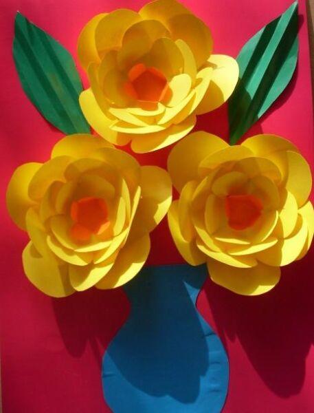 Цветы из бумаги — схемы и шаблоны для создания бумажных цветов этап 148
