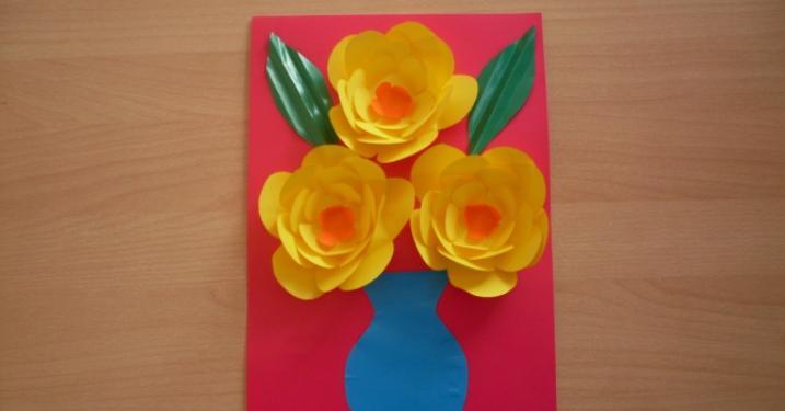 Цветы из бумаги — схемы и шаблоны для создания бумажных цветов этап 144