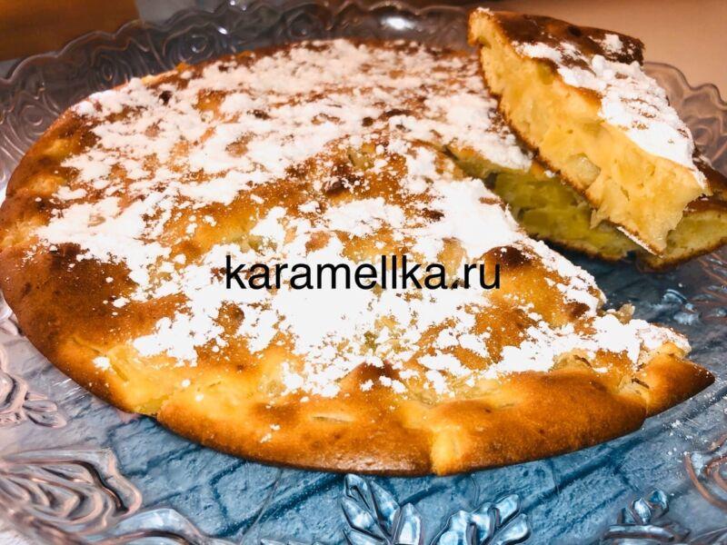 Пирог из консервированных ананасов в духовке