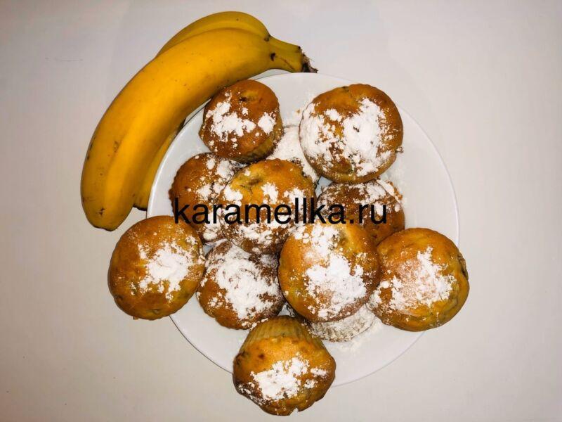 Кексы с бананом в силиконовых формочках (простой рецепт) этап 23