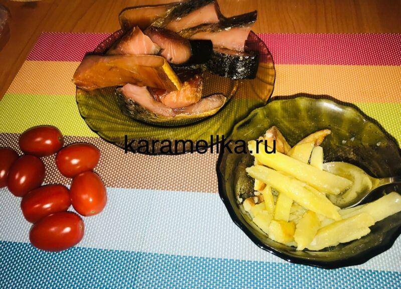 Жареная картошка на сковороде с чесноком (рецепт картофеля с хрустящей корочкой) этап 11