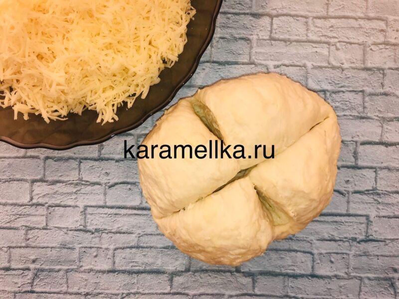 Чуду с сыром на сковороде этап 8