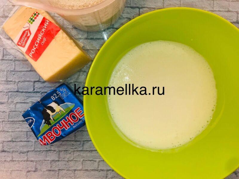 Чуду с сыром на сковороде этап 4