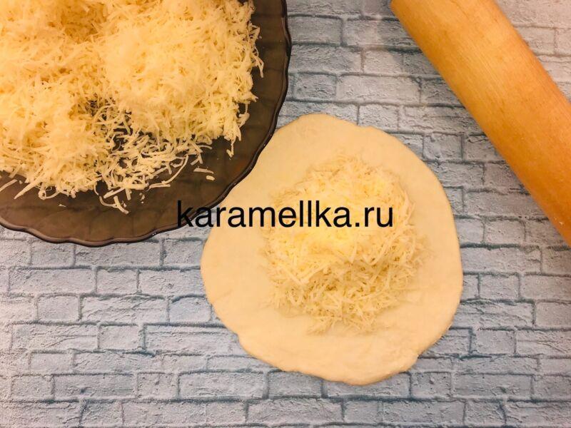 Чуду с сыром на сковороде этап 10
