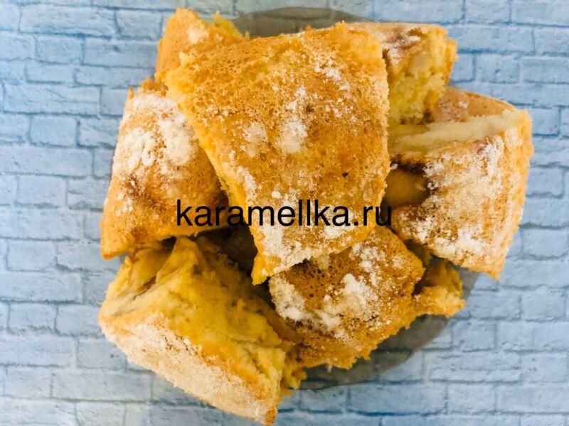 Пышная шарлотка с яблоками в духовке (классический рецепт) этап 15