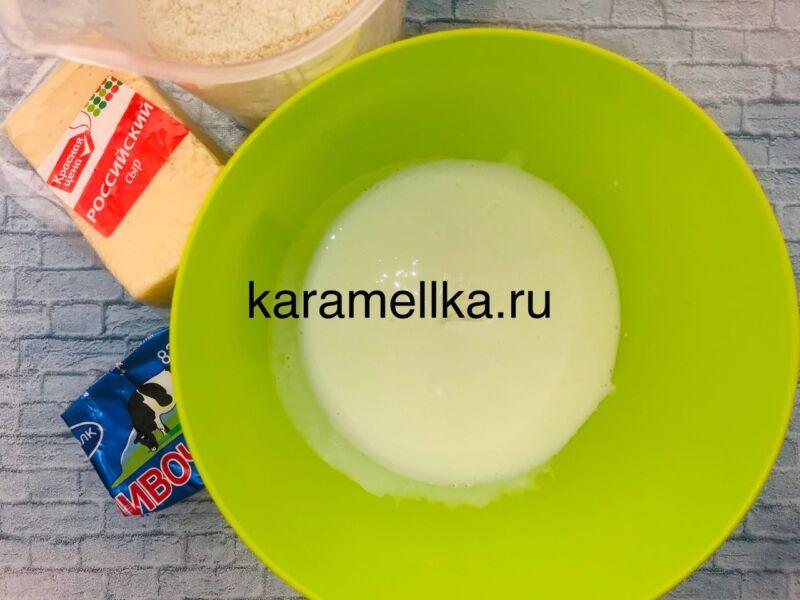 Чуду с сыром на сковороде этап 3