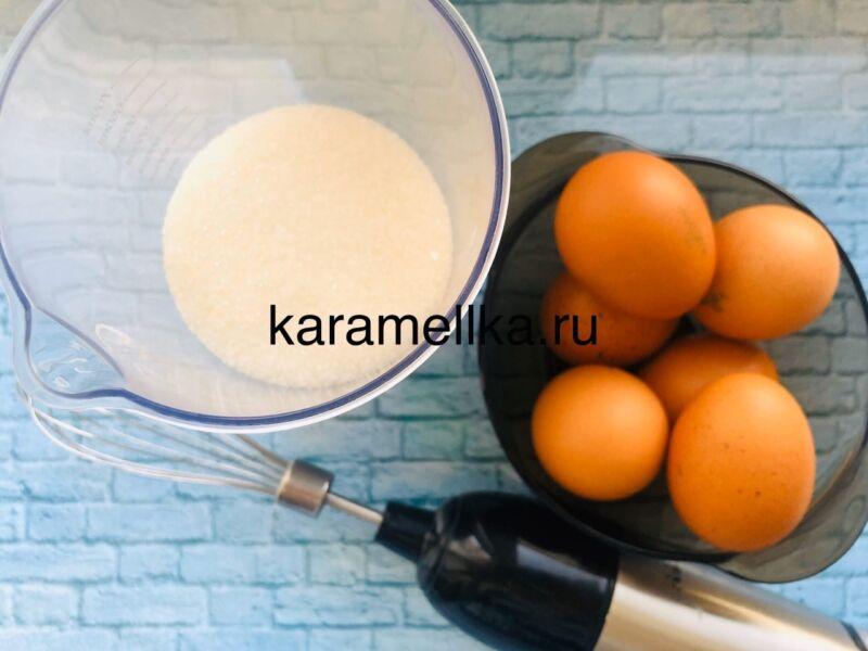 Пышная шарлотка с яблоками в духовке (классический рецепт) этап 4
