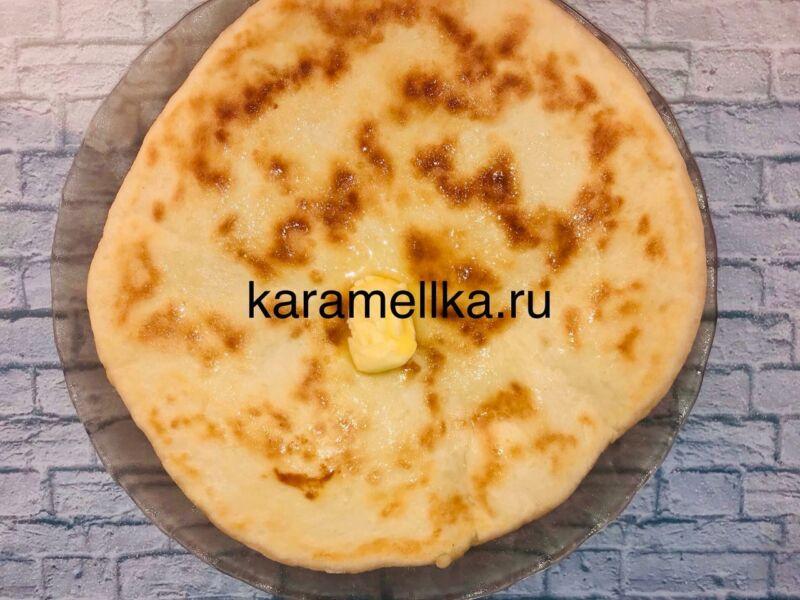 Чуду с сыром на сковороде этап 16