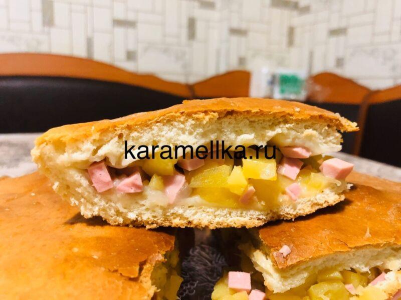 Картофельный пирог в духовке этап 1
