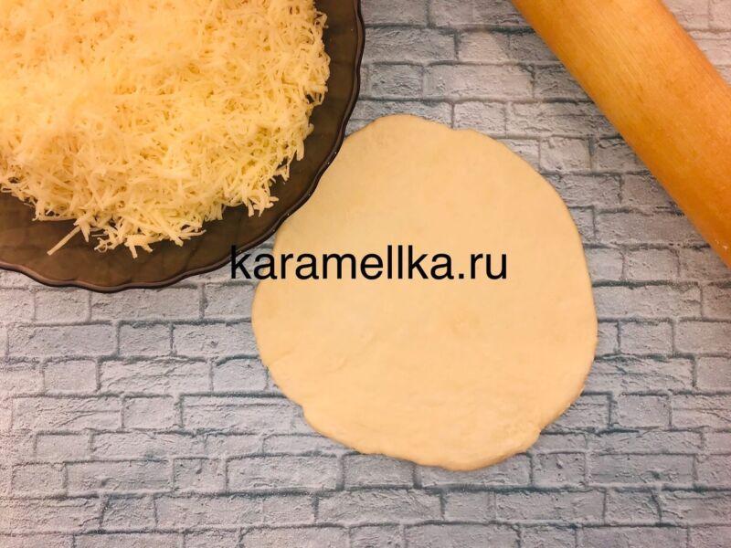 Чуду с сыром на сковороде этап 9