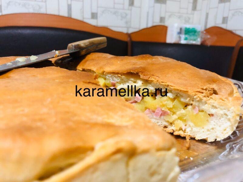 Картофельный пирог в духовке этап 22