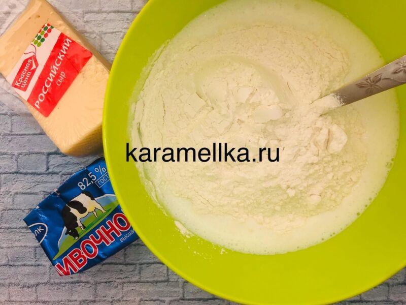 Чуду с сыром на сковороде этап 5