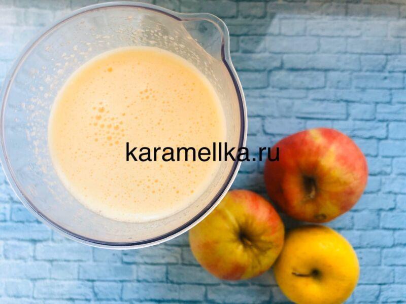 Пышная шарлотка с яблоками в духовке (классический рецепт) этап 5