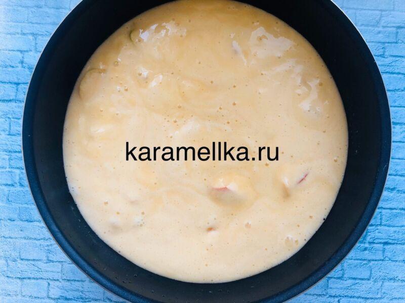 Пышная шарлотка с яблоками в духовке (классический рецепт) этап 10