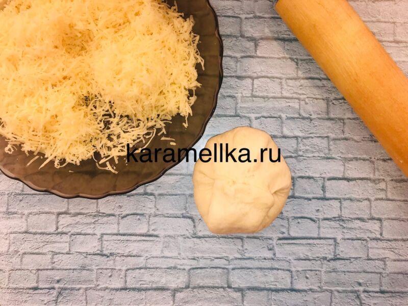 Чуду с сыром на сковороде этап 11