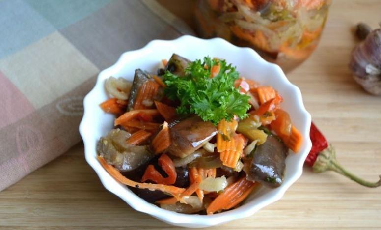 Баклажаны по-корейски на зиму по самым вкусным рецептам этап 25
