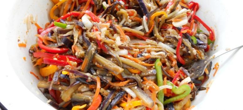 Баклажаны по-корейски на зиму по самым вкусным рецептам этап 8