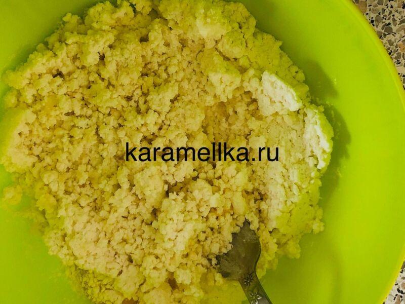 Пышные сырники из творога по классическому рецепту на сковороде этап 7