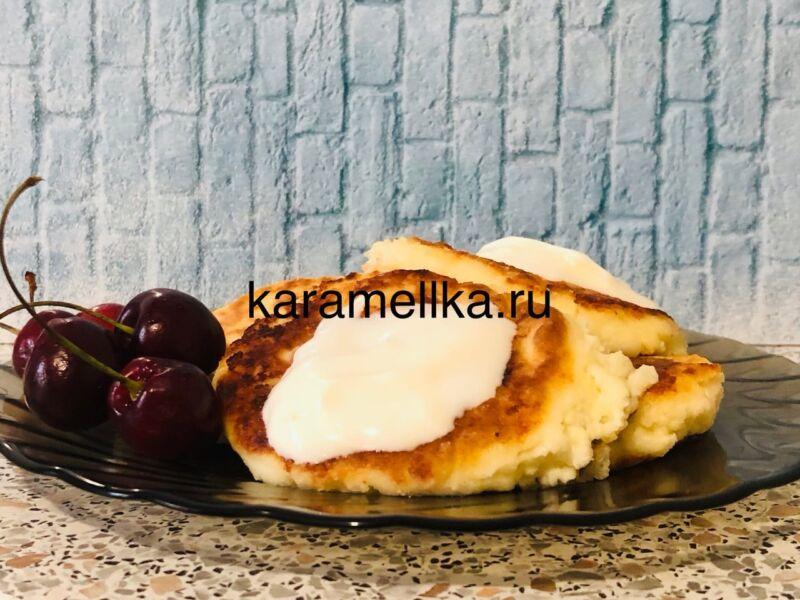 Пышные сырники из творога по классическому рецепту на сковороде