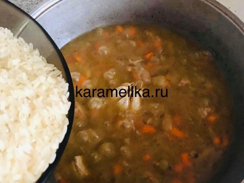 Как приготовить плов из свинины, чтобы рис был рассыпчатым этап 20