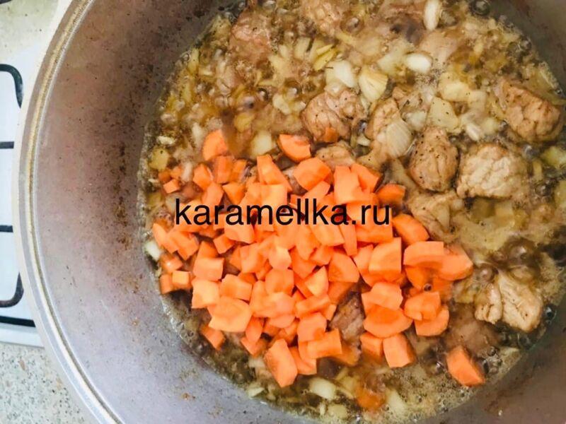 Как приготовить плов из свинины, чтобы рис был рассыпчатым этап 17