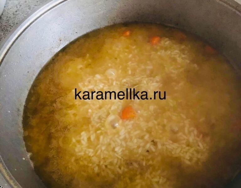 Как приготовить плов из свинины, чтобы рис был рассыпчатым этап 21