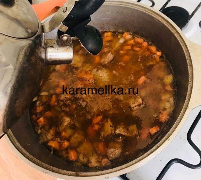 Как приготовить плов из свинины, чтобы рис был рассыпчатым этап 18