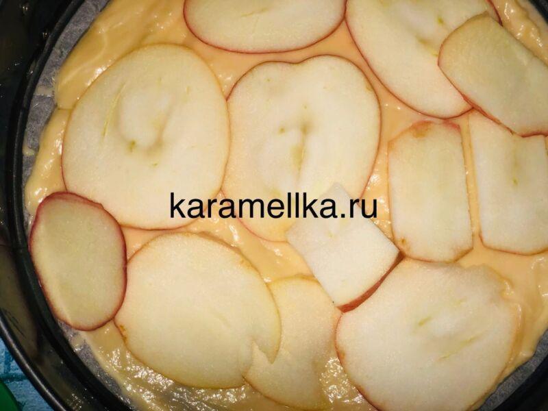 Пирог с яблоками в духовке — быстрый и вкусный рецепт этап 12