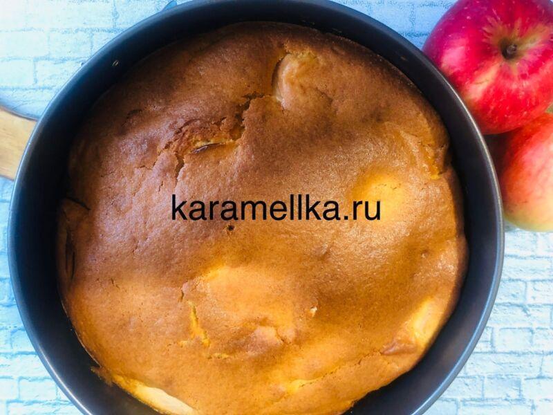 Пирог с яблоками в духовке — быстрый и вкусный рецепт этап 17