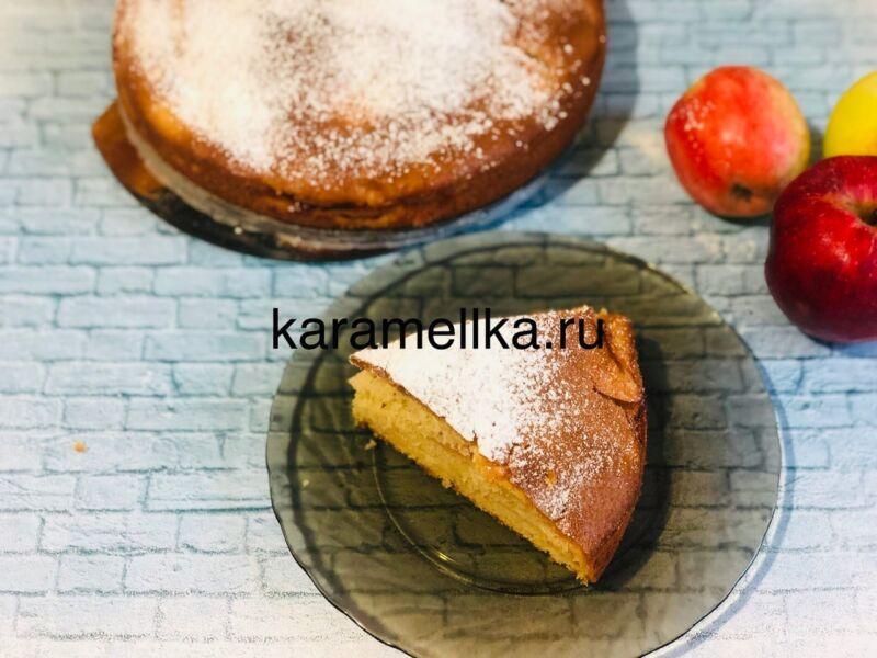 Пирог с яблоками в духовке — быстрый и вкусный рецепт этап 18