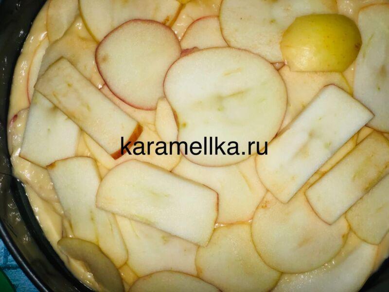 Пирог с яблоками в духовке — быстрый и вкусный рецепт этап 14