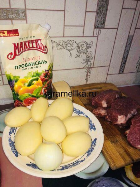 Картофель с мясом в духовке — простые и вкусные рецепты этап 2