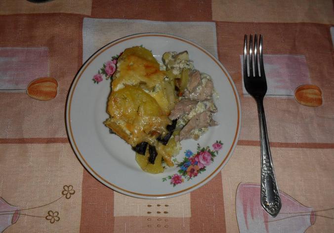 Картофель с мясом в духовке — простые и вкусные рецепты этап 21