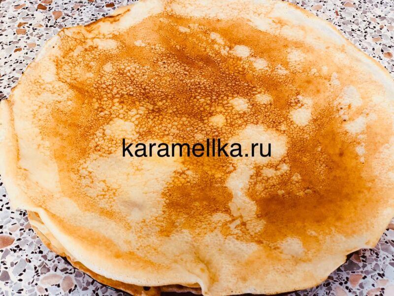 Дрожжевые блины на молоке с дырочками (4 рецепта) этап 10
