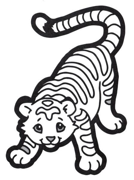 Трафареты тигра на окна для вырезания из бумаги на Новый год 2022 этап 37