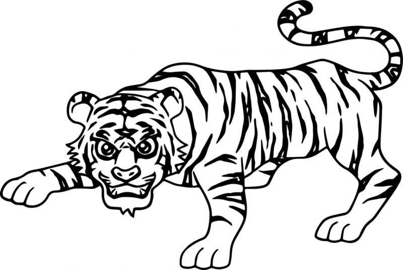 Трафареты тигра на окна для вырезания из бумаги на Новый год 2022 этап 33
