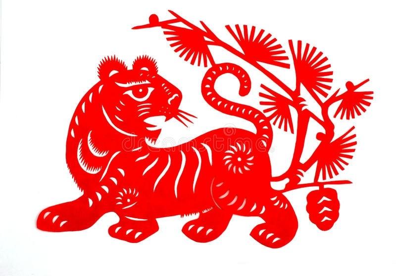 Трафареты тигра на окна для вырезания из бумаги на Новый год 2022 этап 31