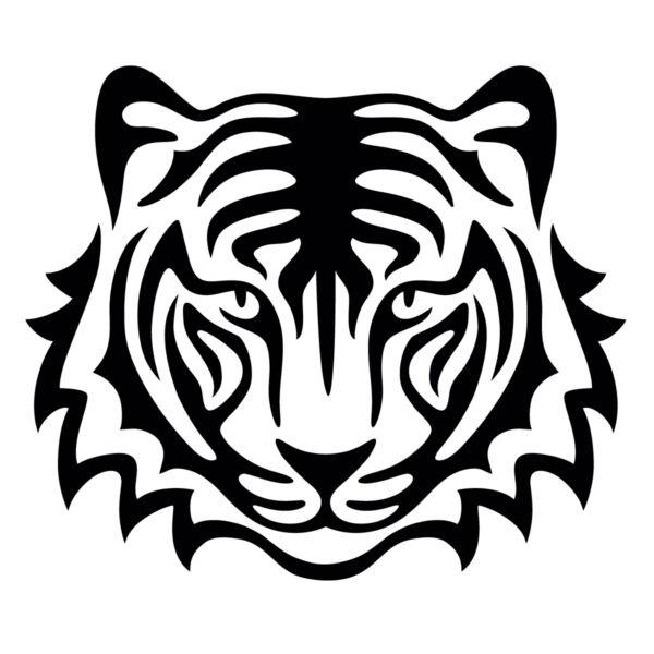 Трафареты тигра на окна для вырезания из бумаги на Новый год 2022 этап 38