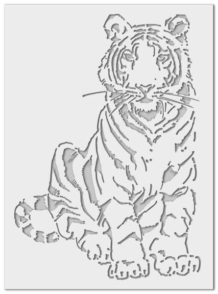 Трафареты тигра на окна для вырезания из бумаги на Новый год 2022 этап 6